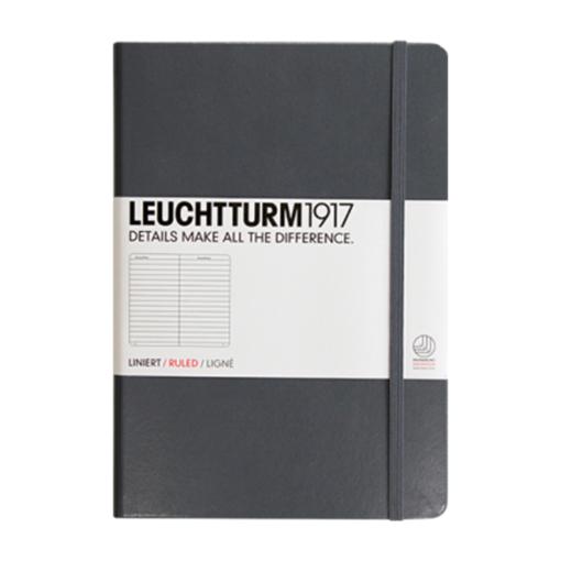 Leuchtturm1917 notesbog i grå med linjer