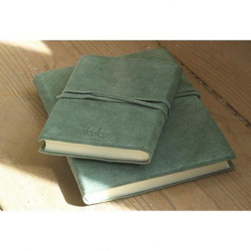 Notesbog i håndlavet ruskind